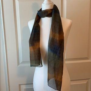 Vintage sheer Head/neck scarf multicolor pattern